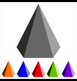 geometric pyramid shape vector image