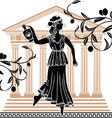 Greek woman with olive vector | Price: 1 Credit (USD $1)