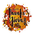 happy thanksgiving day for poster postcard vector image
