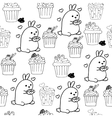 High quality original cute bunny seamless pattern vector image