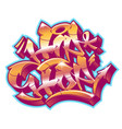 hip-hop in graffiti funky style vector image vector image