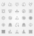 hydropower icons set vector image