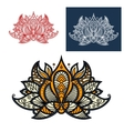 Indian beige orange and gray paisley flower vector image vector image