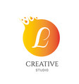 l letter logo design l icon colorful and modern vector image