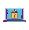 laptop computer security strategy digital vector image