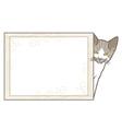 Little kitten with frame vector image vector image