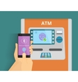 Mobile access to ATM vector image vector image