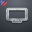 monitor icon symbol 3D style Trendy modern design vector image