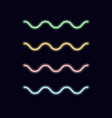 neon linear waves lines decorative light vector image