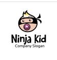 Ninja Kid Design vector image