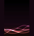 pink flame curve layer abstract background vector image