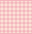 pink flower shape line seamless pattern design vector image