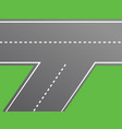 road intersection road vector image