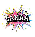 sanaa comic text in pop art style vector image vector image
