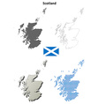 Scotland outline map set vector image vector image