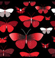 seamless bright pattern red butterflies vector image vector image