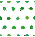 seamless pattern with green gooseberry vector image vector image