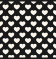seamless pattern with heart shapes valentines day vector image