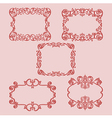 set frame pattern red vector image vector image