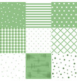 set green cute seamless patterns vector image