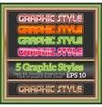 Set Of Colorful Graphic Styles for Various Design vector image