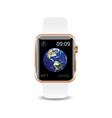 smart watch white earth vector image