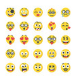 smiley flat icons pack vector image