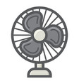 table fan colorful line icon household appliance vector image