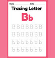 tracing letter b alphabet worksheet