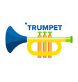trumpet musical child instrument isolated vector image vector image