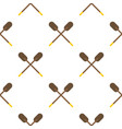 two wooden crossed oars pattern flat vector image