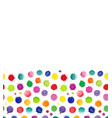 watercolor confetti isolated abstract spot vector image vector image