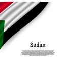 waving flag of sudan vector image vector image