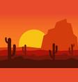 western desert landscape vector image