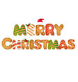 xmas gingerbread text vector image vector image