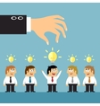 Business ideas selection concept vector image