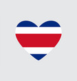 heart in colors of the costa rica flag vector image