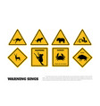 animals yellow warning signs vector image