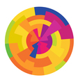 colorful circle abstract vector image