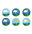 weather icon set flat forecast sky cloud vector image