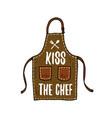 apron or kitchen utensils cooking stuff for menu vector image