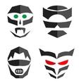 Set of hero mask Superhero costume accessories vector image