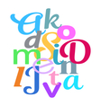 Abstract Bright Colorful Typography vector image vector image