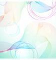 abstract light rainbow guilloche background vector image