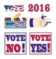 american presidential election 2016 badges vector image
