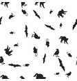 animal halloween seamless pattern vector image vector image