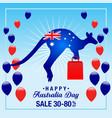 australia day sale background vector image
