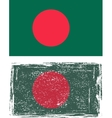 Bangladeshi grunge flag vector image vector image