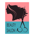 beauty salon banner vector image vector image