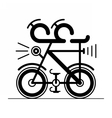 Bicycle bike icon isolated on white background vector image